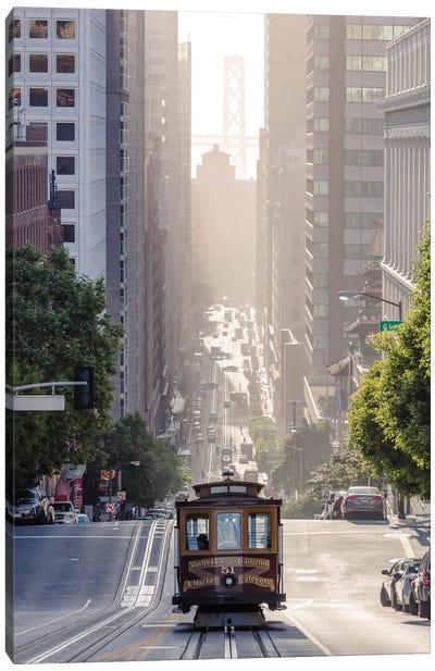 Cable Car, San Francisco, California, USA Canvas Print #TEO24