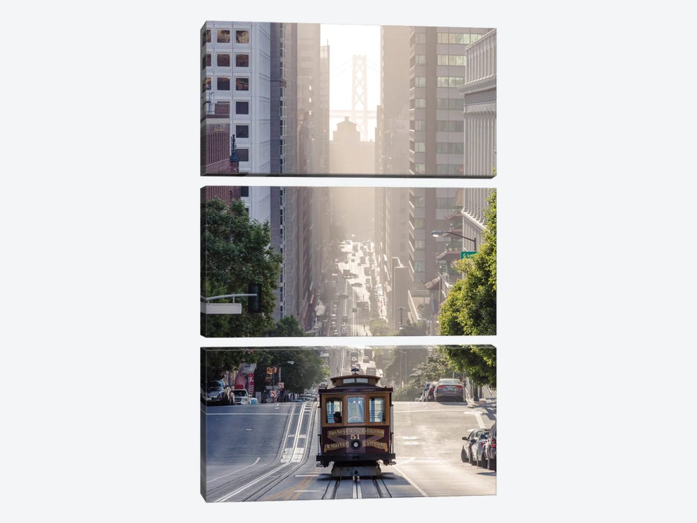 Cable Car, San Francisco, California, USA by Matteo Colombo 3-piece Canvas Art