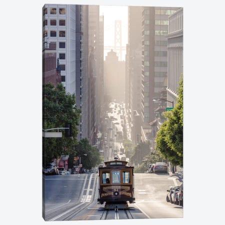 Cable Car, San Francisco, California, USA 3-Piece Canvas #TEO24} by Matteo Colombo Canvas Print
