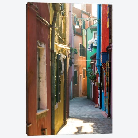 Small Alley In Burano, Venice Canvas Print #TEO251} by Matteo Colombo Canvas Print