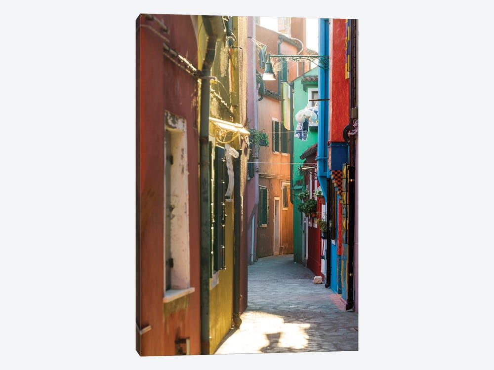 Small Alley In Burano, Venice 1-piece Art Print