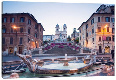 Spanish Steps, Rome Canvas Art Print