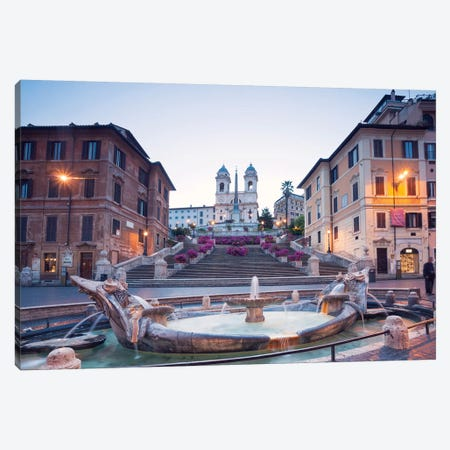 Spanish Steps, Rome Canvas Print #TEO252} by Matteo Colombo Canvas Art Print