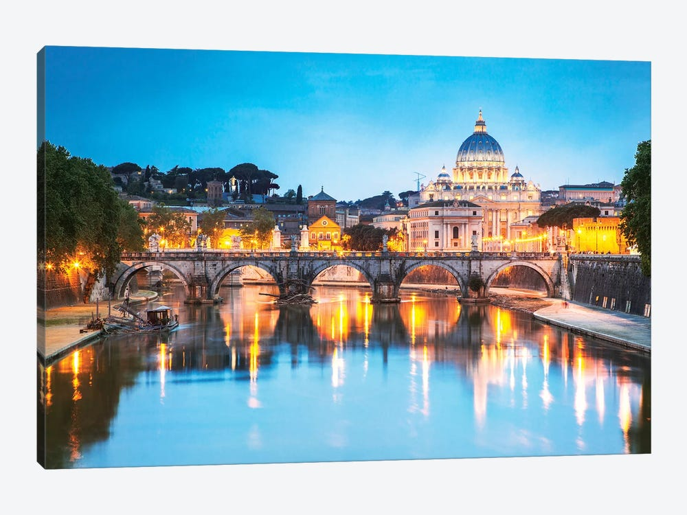St Peter's Basilica And Tevere River, Rome by Matteo Colombo 1-piece Canvas Art Print