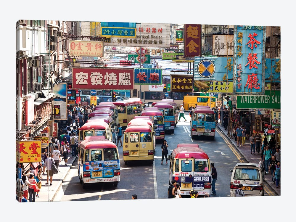 Street Scene In Hong Kong by Matteo Colombo 1-piece Canvas Art Print