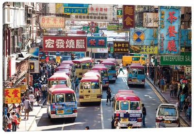 Street Scene In Hong Kong Canvas Art Print