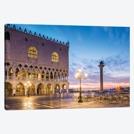 Sunrise Over Doge's Palace, Venice Canvas Print #TEO257} by Matteo Colombo Canvas Wall Art