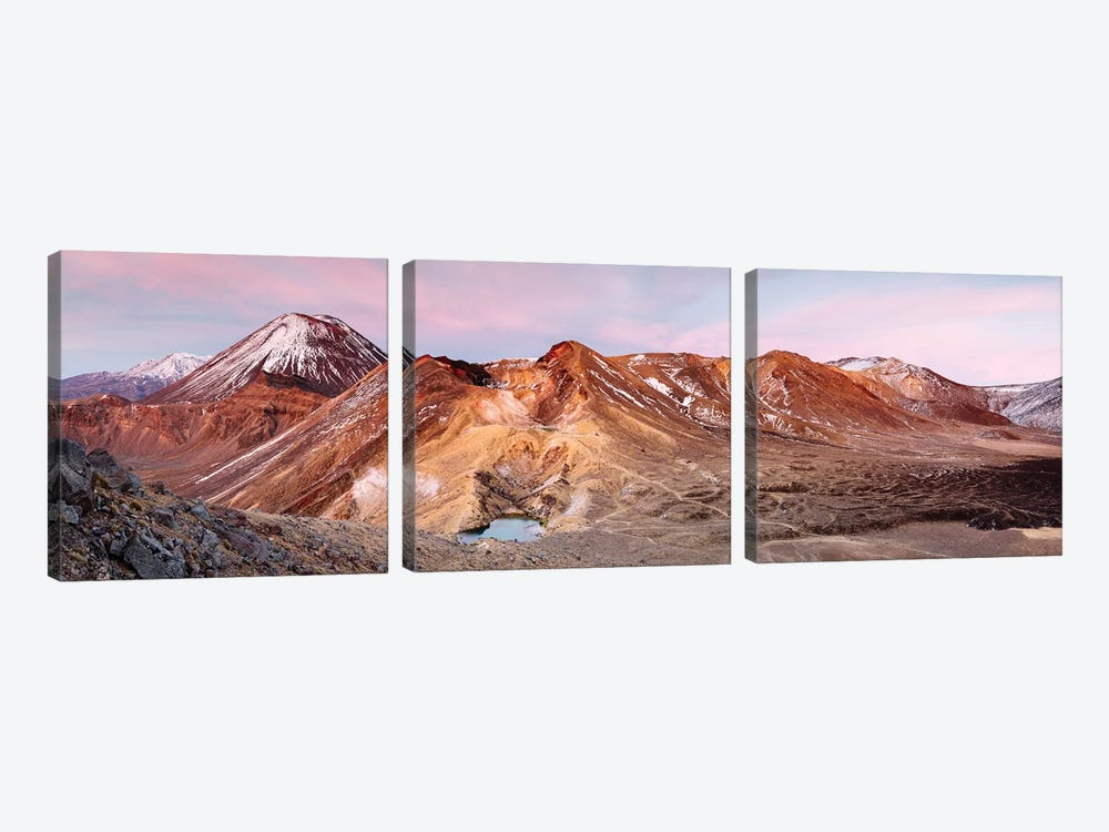 Sunrise Over Ngauruhoe Volcano, New Zealand by Matteo Colombo 3-piece Canvas Artwork