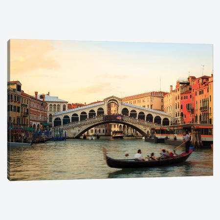 Sunset At Rialto, Venice Canvas Print #TEO259} by Matteo Colombo Canvas Art Print