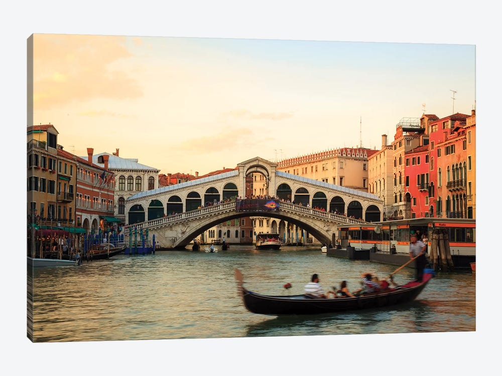 Sunset At Rialto, Venice by Matteo Colombo 1-piece Canvas Print