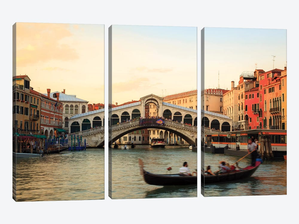 Sunset At Rialto, Venice by Matteo Colombo 3-piece Art Print