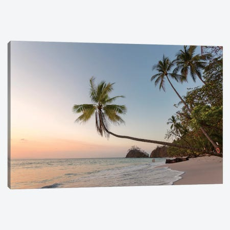 Sunset On Tropical Beach, Costa Rica Canvas Print #TEO260} by Matteo Colombo Canvas Art