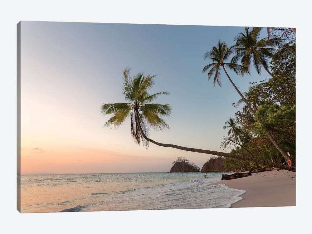 Sunset On Tropical Beach, Costa Rica by Matteo Colombo 1-piece Canvas Art Print
