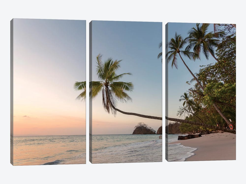 Sunset On Tropical Beach, Costa Rica by Matteo Colombo 3-piece Art Print
