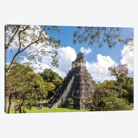 Temple I Of The Jaguar, Tikal, Guatemala Canvas Print #TEO263} by Matteo Colombo Canvas Wall Art