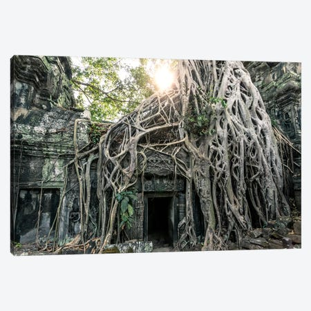 Temple In The Jungle, Angkor Wat, Cambodia Canvas Print #TEO264} by Matteo Colombo Canvas Print
