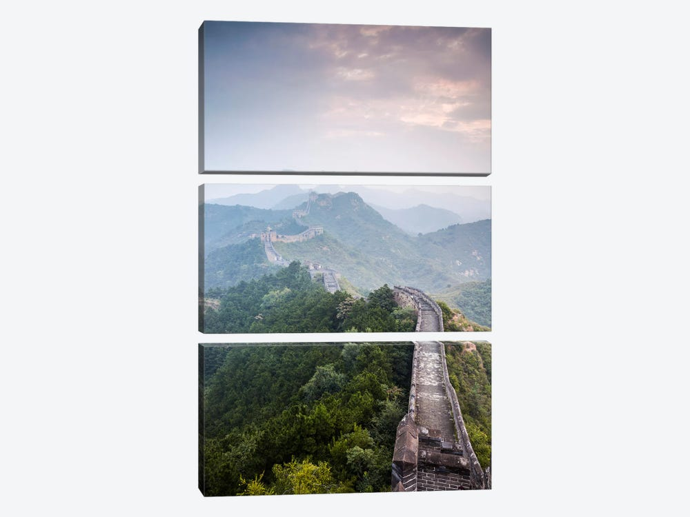 The Great Wall Of China by Matteo Colombo 3-piece Canvas Artwork