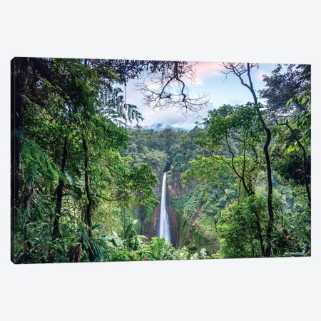 Toro Waterfall, Costa Rica Canvas Print #TEO267} by Matteo Colombo Art Print