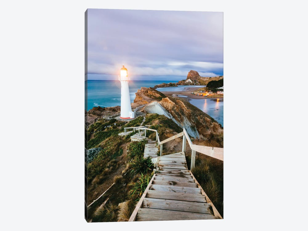 Castle Point Lighthouse At Dawn, Castlepoint, Wellington, North Island, New Zealand by Matteo Colombo 1-piece Canvas Art