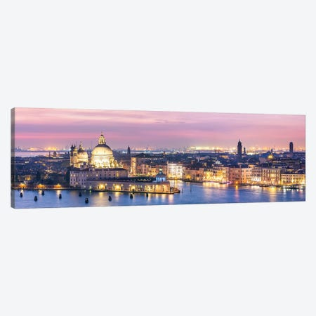 Venice Panorama At Night Canvas Print #TEO272} by Matteo Colombo Canvas Print