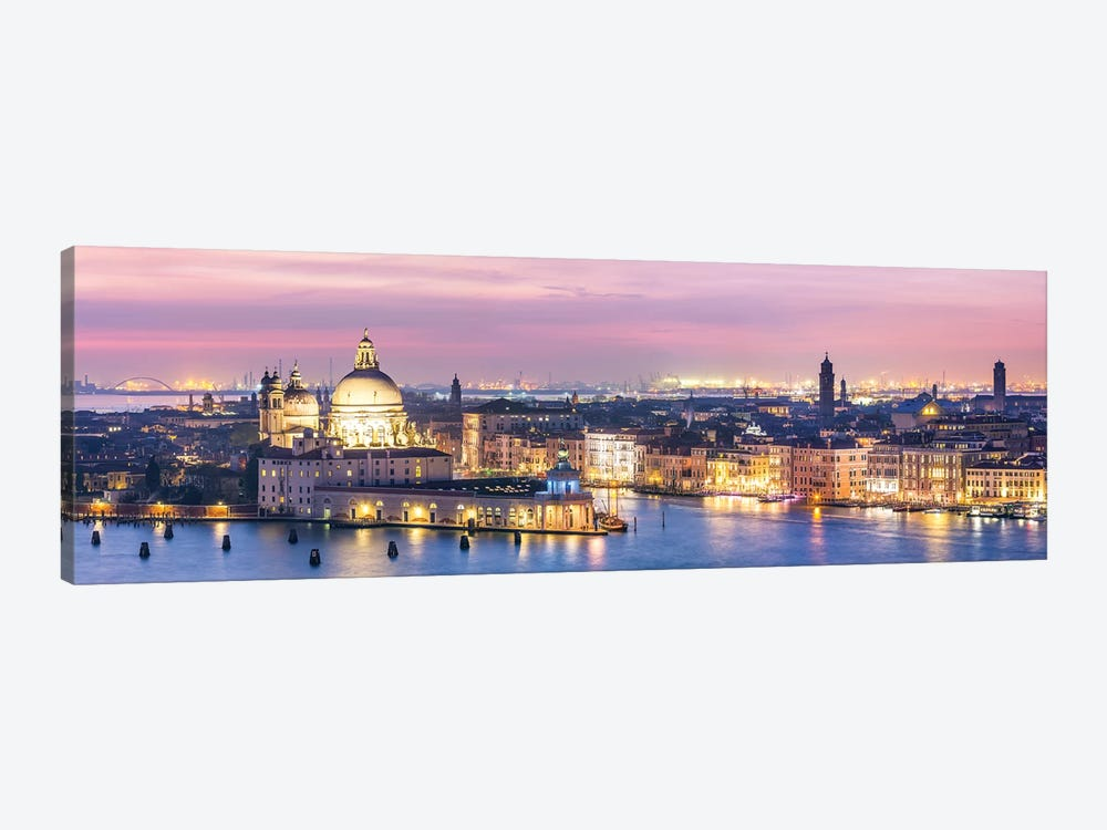 Venice Panorama At Night by Matteo Colombo 1-piece Canvas Art