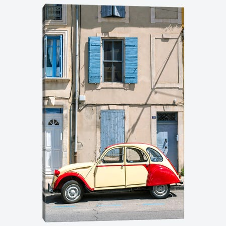 Vintage Car In The Streets Of Provence, France Canvas Print #TEO273} by Matteo Colombo Canvas Art Print