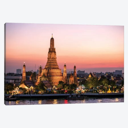 Wat Arun (Temple Of Dawn) In Bangkok Canvas Print #TEO274} by Matteo Colombo Canvas Art