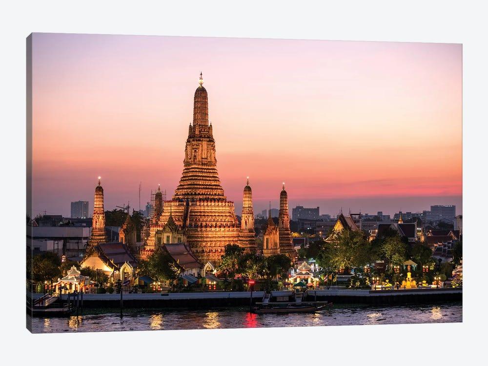 Wat Arun (Temple Of Dawn) In Bangkok by Matteo Colombo 1-piece Canvas Artwork