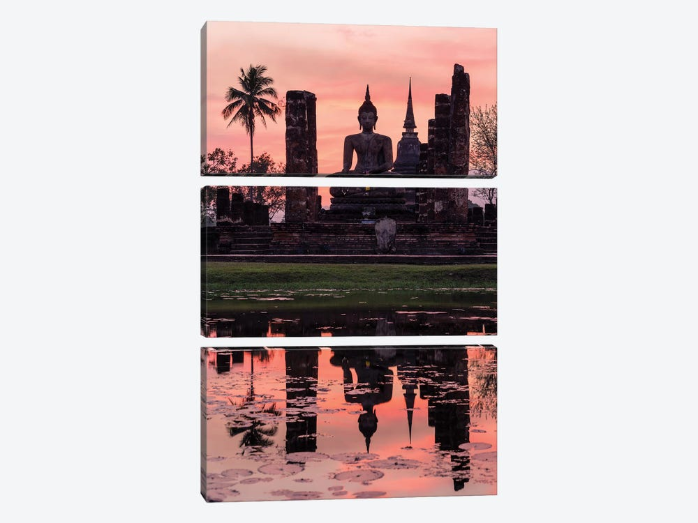 Wat Mahathat Temple, Thailand by Matteo Colombo 3-piece Canvas Art Print