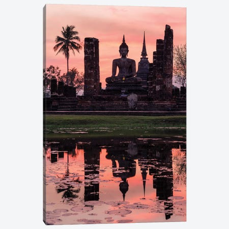 Wat Mahathat Temple, Thailand Canvas Print #TEO275} by Matteo Colombo Canvas Art