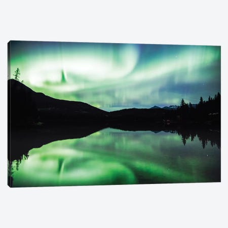 Aurora Borealis I 3-Piece Canvas #TEO279} by Matteo Colombo Canvas Art Print