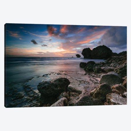 Cattlewash Beach, Barbados, Lesser Antilles Canvas Print #TEO27} by Matteo Colombo Canvas Art Print