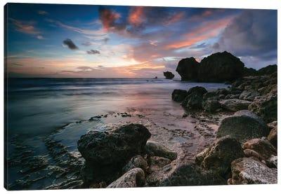 Cattlewash Beach, Barbados, Lesser Antilles Canvas Print #TEO27