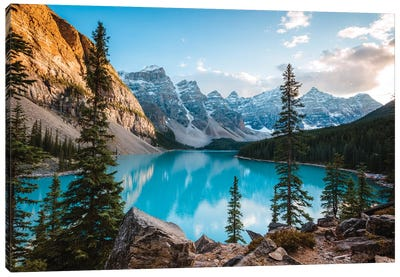 Autumnal Moraine Lake Canvas Art Print