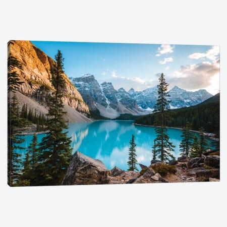 Autumnal Moraine Lake Canvas Print #TEO283} by Matteo Colombo Canvas Artwork