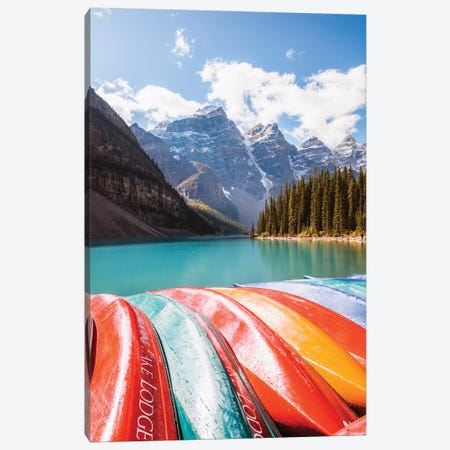 Colors Of Moraine Lake Canvas Print #TEO284} by Matteo Colombo Canvas Art Print