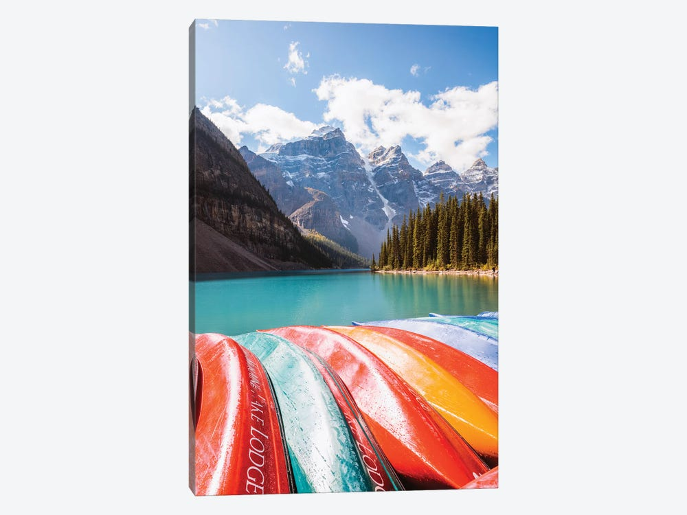 Colors Of Moraine Lake by Matteo Colombo 1-piece Canvas Art Print