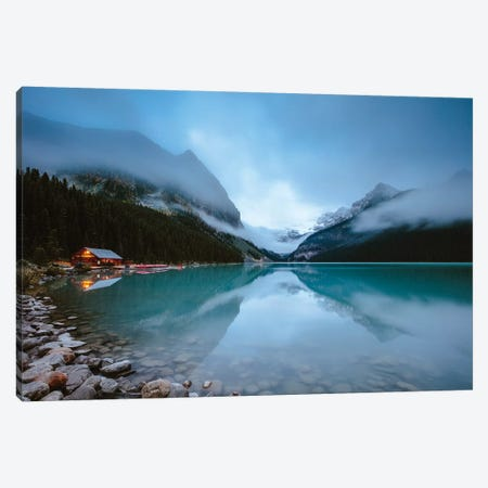 Dawn At Lake Louise Canvas Print #TEO285} by Matteo Colombo Art Print