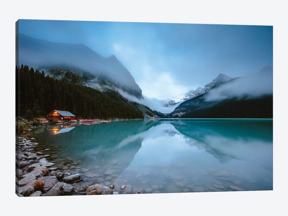 Dawn At Lake Louise by Matteo Colombo 1-piece Canvas Art
