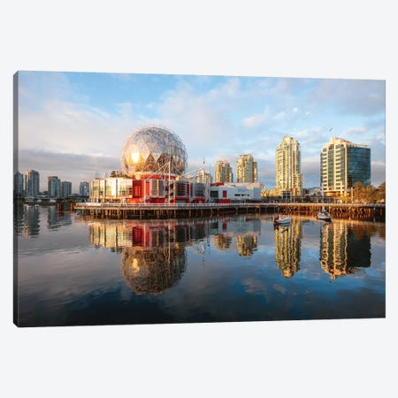 False Creek At Sunset, Vancouver Canvas Print #TEO286} by Matteo Colombo Canvas Print