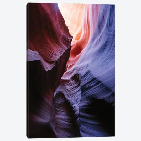Color Temperature I, The Corkscrew, Antelope Canyon, Navajo Nation, Arizona, USA Canvas Print #TEO28} by Matteo Colombo Canvas Artwork