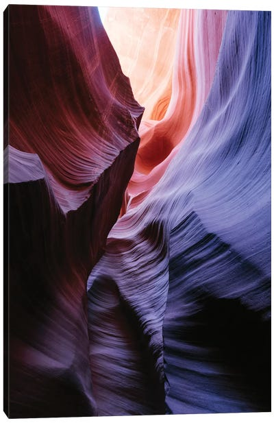 Color Temperature I, The Corkscrew, Antelope Canyon, Navajo Nation, Arizona, USA Canvas Art Print