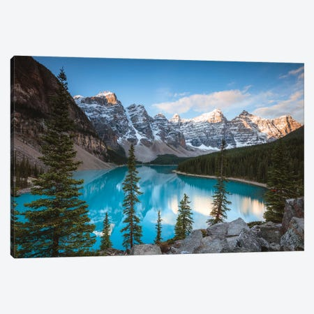 Iconic Moraine Lake Canvas Print #TEO290} by Matteo Colombo Canvas Art Print