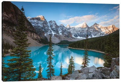 Iconic Moraine Lake Canvas Art Print
