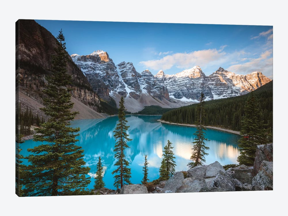 Iconic Moraine Lake by Matteo Colombo 1-piece Canvas Wall Art