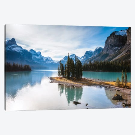 Iconic Spirit Island On Maligne Lake Canvas Print #TEO291} by Matteo Colombo Canvas Art Print