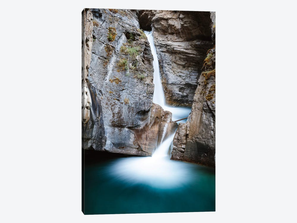 Johnston Canyon Waterfall 1-piece Canvas Artwork
