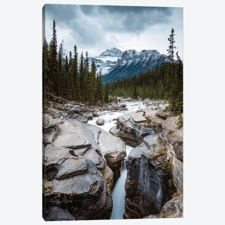 Mistaya Canyon In The Rockies Canvas Print #TEO293} by Matteo Colombo Canvas Art Print