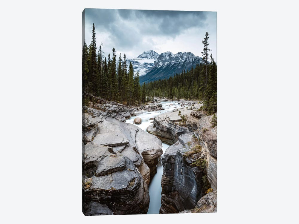 Mistaya Canyon In The Rockies by Matteo Colombo 1-piece Art Print
