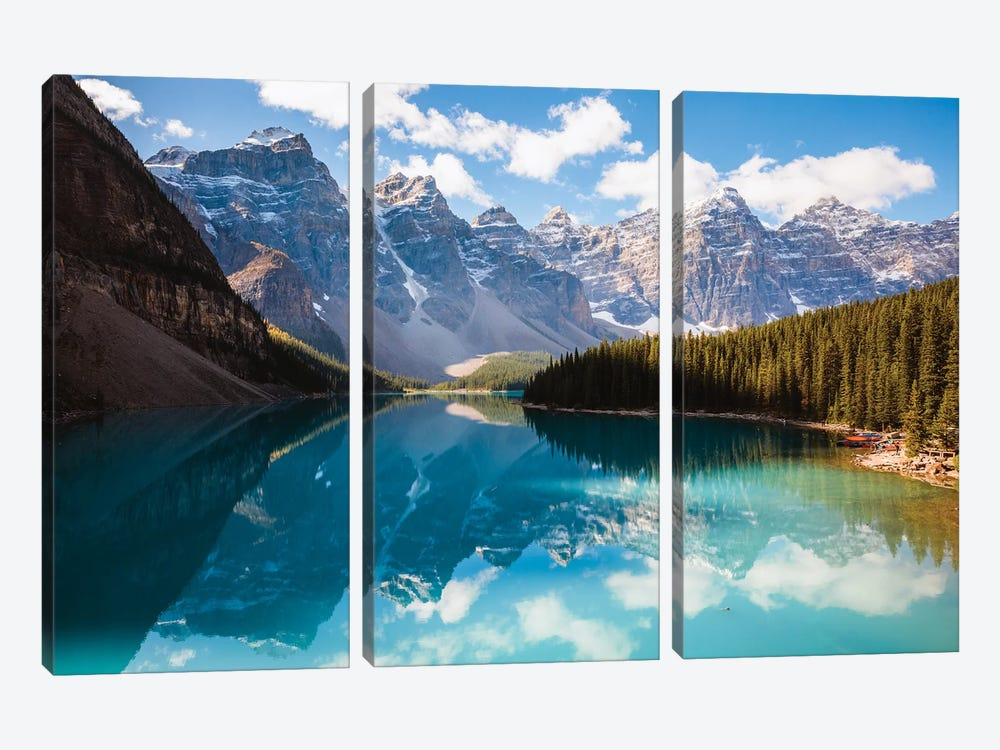 Moraine Lake And The Ten Peaks I by Matteo Colombo 3-piece Art Print